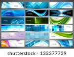 abstract various 18 colorful... | Shutterstock .eps vector #132377729