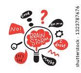 brainstorm. funny hand drawn... | Shutterstock .eps vector #1323787676