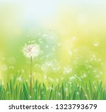 vector spring background with... | Shutterstock .eps vector #1323793679