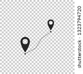 route location icon isolated on ...