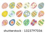 easter eggs set. hand drawn... | Shutterstock .eps vector #1323797036