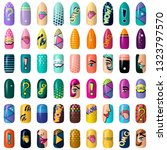 set of colored painted pop art... | Shutterstock .eps vector #1323797570