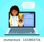 online consultation with a... | Shutterstock .eps vector #1323803726