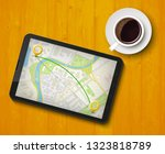 city map route navigation... | Shutterstock .eps vector #1323818789