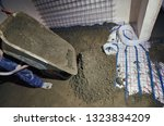 laying pipes for floor heating... | Shutterstock . vector #1323834209