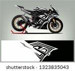 sport motorcycle wrap design.... | Shutterstock .eps vector #1323835043