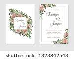 set for wedding invitation ... | Shutterstock .eps vector #1323842543