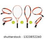 tennis rackets with yellow...   Shutterstock . vector #1323852260