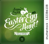 Happy Easter - Typography background