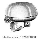 it is a hollow metal object ... | Shutterstock .eps vector #1323871850