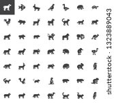 animals side view vector icons... | Shutterstock .eps vector #1323889043