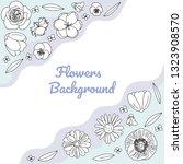 vector hand drawn flowers ...   Shutterstock .eps vector #1323908570