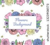 vector hand drawn flowers ...   Shutterstock .eps vector #1323908573