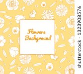 vector hand drawn flowers ...   Shutterstock .eps vector #1323908576