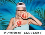 gorgeous woman with nude make... | Shutterstock . vector #1323912056