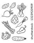 cauliflower  sweet potatoes ... | Shutterstock .eps vector #1323920909