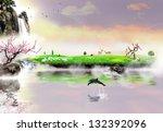 dreamy island of biodiversity ... | Shutterstock . vector #132392096