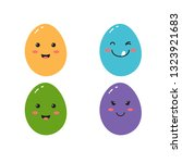 happy egg in style kawaii  with ...   Shutterstock .eps vector #1323921683