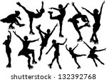 Vector figure skating silhouette