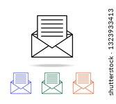 letter from envelope icon....   Shutterstock . vector #1323933413