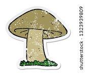 distressed sticker of a cartoon ... | Shutterstock .eps vector #1323939809