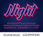 strong and sharp font  cool...   Shutterstock .eps vector #1323949340