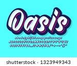 modern trendy bold brush script ... | Shutterstock .eps vector #1323949343