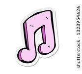 sticker of a cartoon musical... | Shutterstock .eps vector #1323954626