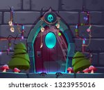 magical entrance or portal in... | Shutterstock .eps vector #1323955016