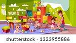 children in nursery school... | Shutterstock .eps vector #1323955886