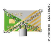 credit card with chains and pad ... | Shutterstock .eps vector #1323958250