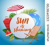 sun is shining. inspirational... | Shutterstock .eps vector #1323958730