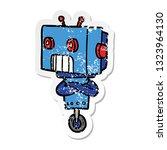 distressed sticker of a cartoon ...   Shutterstock .eps vector #1323964130