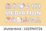 mediation word concepts banner. ...
