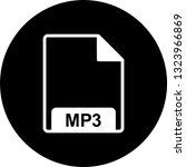 vector mp3 icon  | Shutterstock .eps vector #1323966869