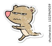 distressed sticker of a angry... | Shutterstock .eps vector #1323969059