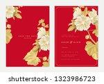 botanical wedding invitation... | Shutterstock .eps vector #1323986723