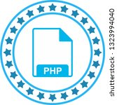 vector php icon  | Shutterstock .eps vector #1323994040