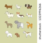 dogs collection. cute cartoon... | Shutterstock .eps vector #1323996266
