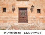 exterior facade with old wooden ... | Shutterstock . vector #1323999416
