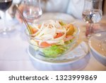 mixed salad with green lettuce  ... | Shutterstock . vector #1323999869