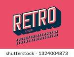 modern retro style font design  ... | Shutterstock .eps vector #1324004873
