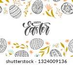 vector happy easter banner with ... | Shutterstock .eps vector #1324009136