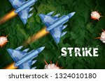 illustration of air strike with ... | Shutterstock .eps vector #1324010180