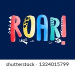 hand writing slogan with... | Shutterstock .eps vector #1324015799