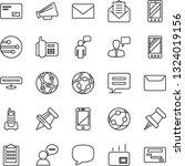 thin line icon set   mobile... | Shutterstock .eps vector #1324019156