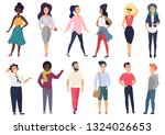 illustration in a flat style... | Shutterstock . vector #1324026653