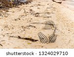 ruins of gabion   mattress... | Shutterstock . vector #1324029710