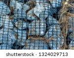 ruins of gabion   mattress... | Shutterstock . vector #1324029713