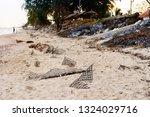 ruins of gabion   mattress... | Shutterstock . vector #1324029716